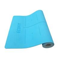 Коврик для фитнеса Ecofit MD9038 двухслойный TPE 1830*610*6мм голубой