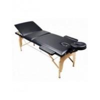 Массажный стол 3-х секционный (дерев. рама) HY-30110